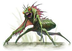 Amphibious Giant Mantis by BrittMartin.deviantart.com on @deviantART