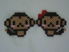 Monkey Couple by PerlerHime