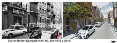 Carrer Rafael Campalans, nº 80, año 1973 y 2016