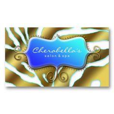 Beauty business card pink sparkle lips purple lovee pinterest salon spa business card retro zebra sea blue gold reheart Gallery