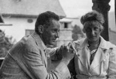 Egon Schiele with his wife Edith Harms. - Schiele spotted Edith Harms outside his window in a Viennese suburb of Hietzing. He chose to marry Harms as she was more socially acceptable than his then mistress Wally, a model and former prostitute. He proposed a compromise to Wally, handing her a document that stated they would vacation every summer without Edith. Wally refused and they never saw each other again. In 1915, Edith and Egon married.