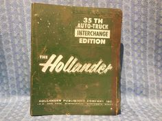 1959-1969 Hollander Original Interchange Catalog GM Ford Chrysler Studebaker #Hollander