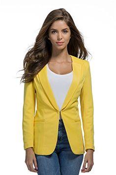 3fd3dcfe34 RS Womens Casual Basic Work Office Cardigan Tuxedo Blazer Boyfriend Jacket  at Amazon Women s Clothing store