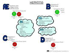 Types of hepatitis. Nursing Mneumonics. Nursing school.