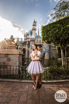 Modern Disney fairy tale inspired Disneyland engagement with an awesome Retro Modern tulle skirt, J Crew, Gap, Timex, Cole Haan, Express, Francesca's, Steve Madden, Charlotte Russe details - styled by Styled by Connie. Adorable, one of our favorite modern day princess and prince looks at this chic Disney engagement! Check out more on the blog <3