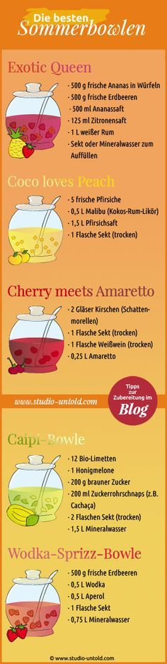 Pin by Andrea Mehlem on Kochrezepte Snacks Für Party, Party Drinks, Cocktail Drinks, Fun Drinks, Yummy Drinks, Alcoholic Drinks, Yummy Food, Delicious Recipes, Smoothie Drinks