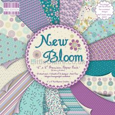 First Edition New Bloom 6 x 6 paper pad