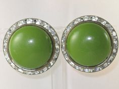 Vintage Dark Lime Green Thermoset and by delightfullyvintage