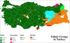 Die ethnische Landkarte der Türkei - Im Osten der Türkei leben praktisch keine Türken