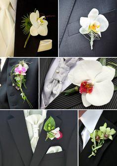 Orchid Bouttonnieres for the groom / Hochzeitsanstecker mit Orchideen für den Bräutigam