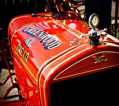 1924 Model-T fire engine (Greenwood, DE) | The first fire truck owned by the Greenwood Vol. Fire Company (Sussex County, Delaware). Photos taken at an antique apparatus show in Georgetown, Delaware (August 2016).