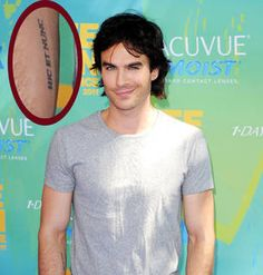 """What Does Ian Somerhalder's Tattoo Say? It Says """"hic et nunc""""  Ian's ink reads hic et nunc, a Latin phrase that means """"here and now."""""""
