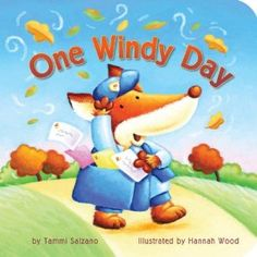 One Windy Day - a book about opposites and friendship from the viewpoint of a mail carrier