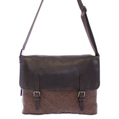 78eb091db428 Dolce   Gabbana Brown leather messenger bag Brown Leather Messenger Bag
