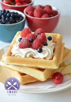Polish Desserts, Polish Recipes, Cookie Desserts, Sweet Desserts, Cake Recipes, Dessert Recipes, Waffle Cake, Good Food, Yummy Food