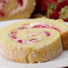 Strawberry Cheesecake Cake Roll