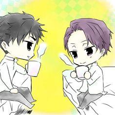 Sakuma and Miyoshi from Joker Game    Morning Coffee