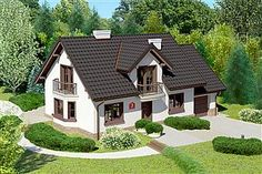 Projekt domu Dom przy Modrzewiowej 3 Micro House, Home Fashion, My Dream Home, House Plans, Shed, Outdoor Structures, Mansions, Country, House Styles