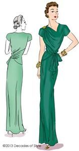 # 4011 1940s Point Made Gown pattern, Decades of Style, $25