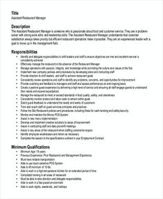 Resume Objectives For Restaurant Chef Resume Template Downlaod  Hotel And Restaurant Management .