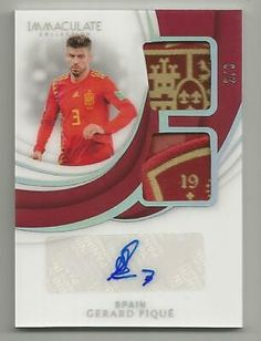 2018-19 Panini Immaculate Gerard Pique Dual Patch Auto SSP #d 2/3 SPAIN  | eBay Soccer Cards, Baseball Cards, Ruud Gullit, World Cup Russia 2018, Fifa Women's World Cup, Fc Barcelona, Patch, Spain, Sports