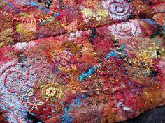 Sedona by janelafazio, via Flickr Fiber Art Quilts, Textile Fiber Art, Textile Artists, Fine Art Textiles, Painting Workshop, Painted Sticks, Color Studies, Nuno Felting, Handmade Felt