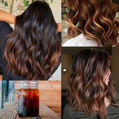 fall hair If youre looking for a trendy new hair color for the fall season, try the cold brew hair trend. 2018 Hair Color Trends, Hair Color 2018, Fall Hair Trends, Brown Ombre Hair, Brown Blonde Hair, Ombre Hair Color, Hair Colour, Dark Hair, Fall Hair Color For Brunettes