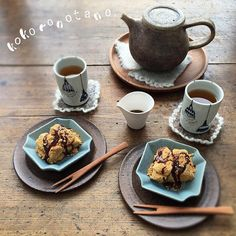 ❁.*⋆✧°.*⋆✧❁ Today's  sweets. ・ 今日のオヤツは 黒糖わらび餅。 ・ 温かい ほうじ茶と 頂きました ・ ・ #こころのたねパンとオヤツ ❁.*⋆✧°.*⋆✧°.*⋆✧°❁