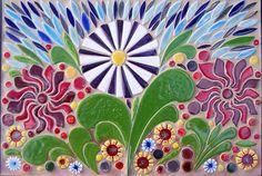 Abstract Mosaic Art | Toms Royal Mosaic Art Large Botanicals
