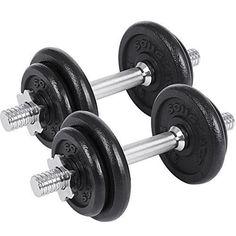 Tnp 15 20 30 40 50kg Dumbbell Vinyle Poids de Musculation Plaques Fitness