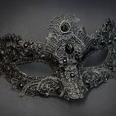 Mascarade Mask, Lace Masquerade Masks, Venetian Masquerade, Venetian Masks, Masquerade Party, Maskerade Outfit, Makeup At Home, Paper Mache Mask, Fractal