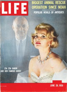 """Zsa Zsa Gabor and her Famous Ghost,"" Life Magazine, June 29, 1959. I give up - who was it?"