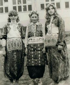 Albanian costumes from Medvegje 1945
