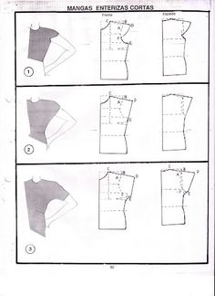Amazing Sewing Patterns Clone Your Clothes Ideas. Enchanting Sewing Patterns Clone Your Clothes Ideas. Techniques Couture, Sewing Techniques, Pattern Cutting, Pattern Making, Sewing Patterns Free, Clothing Patterns, Sewing Hacks, Sewing Tutorials, Sewing Sleeves