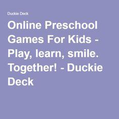 Online Preschool Games For Kids - Play, learn, smile. Cool Games Online, Play Online, Love Games, Games To Play, Preschool Kids Games, Online Reviews, Game App, Games For Girls, Dear Friend