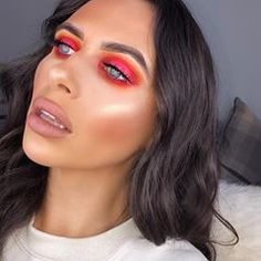 It might be cold outside but I'm bringing the sunset indoors ☀️ ps we have a new Hun hotline out tomorrow (Tuesday 5pm) 🙌🏽 relationship chats here we come!!!Foundation: @ex1cosmetics Concealer: @makeuprevolution conceal and define Brows: @mylottielondon micro blade pen Eyes: @samplebeauty 18 colour palette Highlight: @imogenation_ @makeuprevolution highlight to the moon palette Lips: @soapandglory super nude matte Beauty Bay, Concealer, Highlight, Brows, Tuesday, Blade, Makeup Looks, All About Time, Foundation