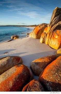 of Fires Bay of Fires.The Bay of Fires is a bay on the northeastern coast of Tasmania in Australia.Bay of Fires.The Bay of Fires is a bay on the northeastern coast of Tasmania in Australia. Places To Travel, Places To See, Places Around The World, Around The Worlds, Beautiful World, Beautiful Places, Parks, Photos Voyages, Am Meer