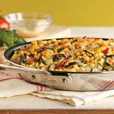 Baked Penne with Corn, Zucchini and Basil | Williams Sonoma