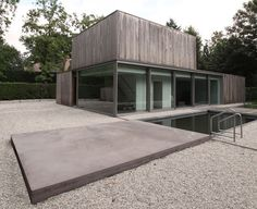 House K with swimming pond | Or Architecten
