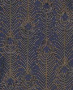 Peacock wallpaper by Matthew Williamson