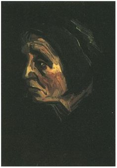 Vincent van Gogh Head of a Peasant Woman with Dark Cap Painting