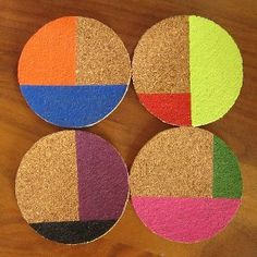 Colorful Patio Coasters | AllFreeHolidayCrafts.com