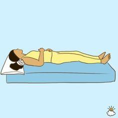 寝姿 首が痛いときは枕を首にたす
