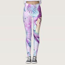 Mermaid Leggings, Womens Leggings, Summer Leggings #mermaid Mermaid at Heart, Mermaid, Leggings, Summer, Beach, Clothing