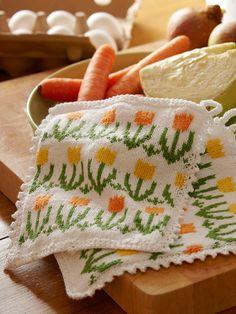 Decoration Design, Pot Holders, Free Crochet, Crochet Patterns, Knitting, Potholders, Threading, Handarbeit, Hot Pads