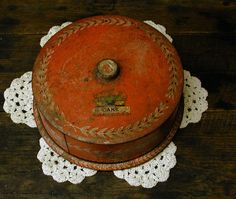 Vintage Cake Tin  Shabby Chic  Primitive  Grungy by Idugitup, $18.75
