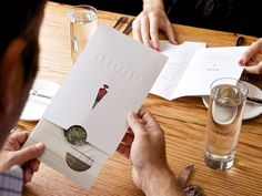 Restaurant menu card design should be top priority for restaurants. Menus are a reflection of the concept behind restaurants thereby making it significant. Restaurant Menu Card, Restaurant Identity, Restaurant Menu Design, Cafe Restaurant, Collateral Design, Identity Design, Brand Identity, Menu Layout, Leaflet Design