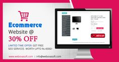 ECommerce website @30% OFF.FREE SEO Services worth Rs.4000/.Grab the OFFER NOW!.We provide e commerce development in Kerala, offers low cost Shopping Cart Development India.