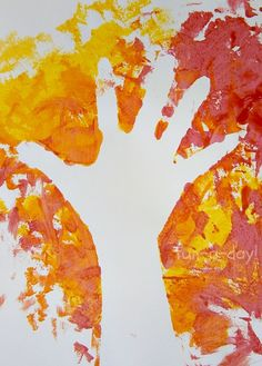 Fall Hand Print Art – Exploring Negative Space with… (fall crafts for kids acorn) Autumn Crafts, Autumn Art, Thanksgiving Crafts, Autumn Theme, Fall Preschool, Preschool Crafts, Crafts For Kids, Preschool Journals, Autumn Activities