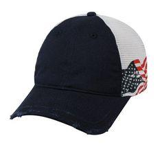 d95b7a68cd99c Mesh Back Screen Print USA Flag Cap